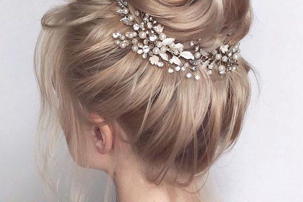 20 High Bun Updo bröllop frisyrer för brudar - Hej fröken Pu