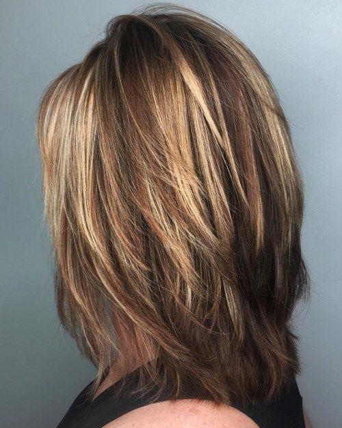 50 bästa mellanlagrade hårklippningar - frisyrer mode och kläder.