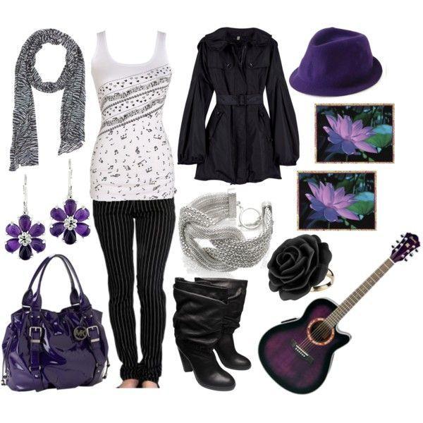 Eleganta lila och svarta kläder lila och svarta kläder lila.