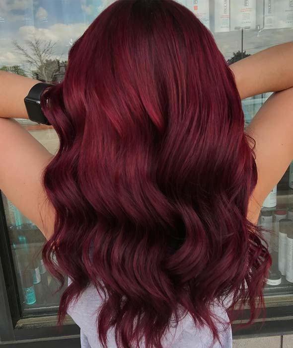 10 Burgundy Hair Color Ideas and Styles for 2019 #burgundyhair.