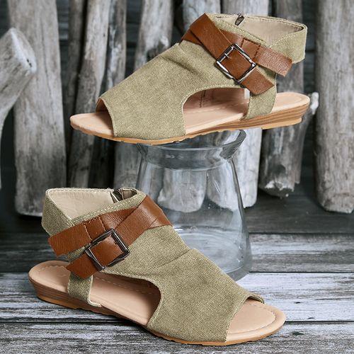 Kvinnors spänne Slingbacks tyg lågklackade sandaler - Floryd