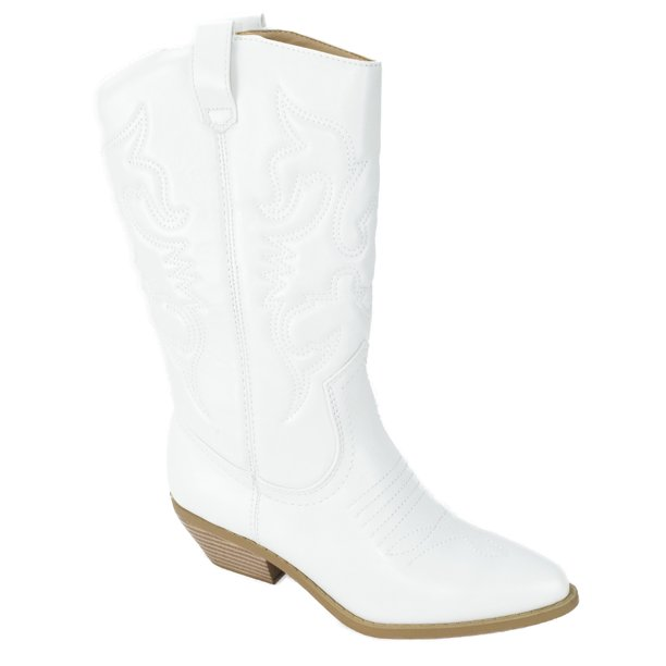 SODA - Reno White Soda Cowboy Western Stitched Boots Dam Cowgirl.