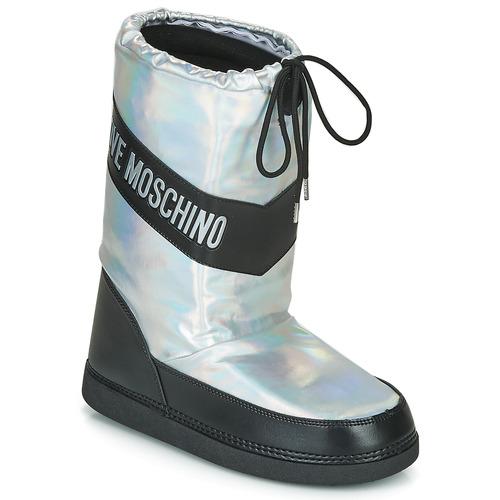 Love Moschino SKI BOOT Silver - Gratis frakt    Spartoo NET.