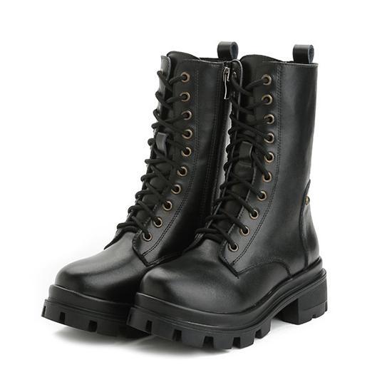 Svart Nya Designer Kvinnor Half Boots Riding Boots - hjältar.