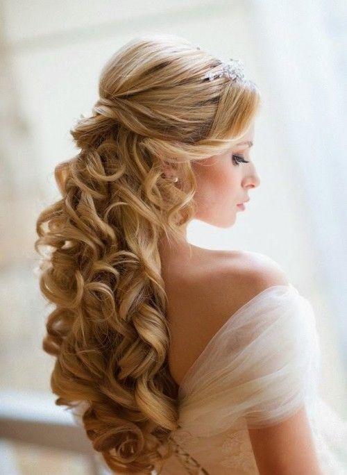 10 underbara bröllopsfrisyrer |  Frisyrer, långa hårstilar.