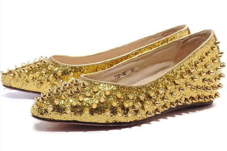 Christian Louboutin dubbade skor guld kvinnor - $ 228,00: Christian.