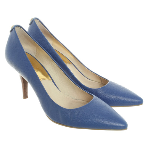 Michael Kors Pumps / Peeptoes Leather in Blue - Second Hand Michael.
