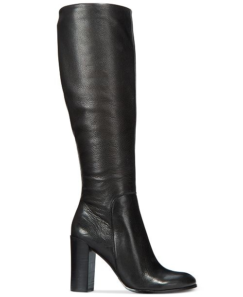 Kenneth Cole New York Kvinnors Justin Block-Heel Tall Boots.