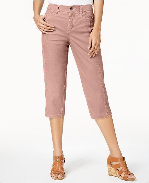 Style & Co Capri-byxor med splitfåll, skapade för Macy's & Reviews.