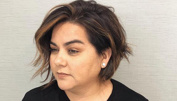 40 korta frisyrer för runda ansikten och dubbelhakor - Babydoll.