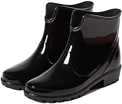 Amazon.com |  Holyami Fashion Short Rain Boots för kvinnor-vattentät.
