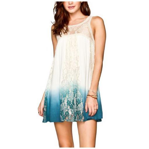 Tie dye spets klänning outfit