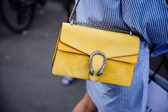 gulblå outfitväska Gucci