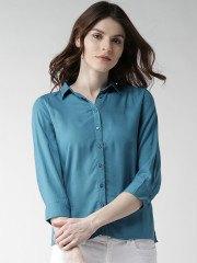 Tiffany Blue Button Up Shirt vit skinny jeans