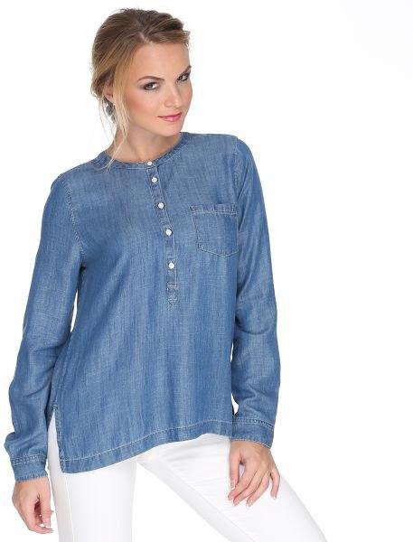 Faux Chambray Rayon kragefri skjorta