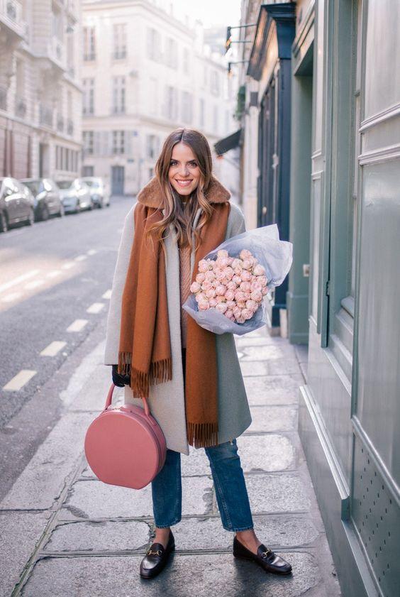 Boucle Coat parisisk look