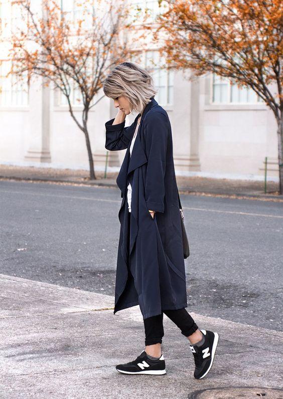 svart duster kappa sneakers