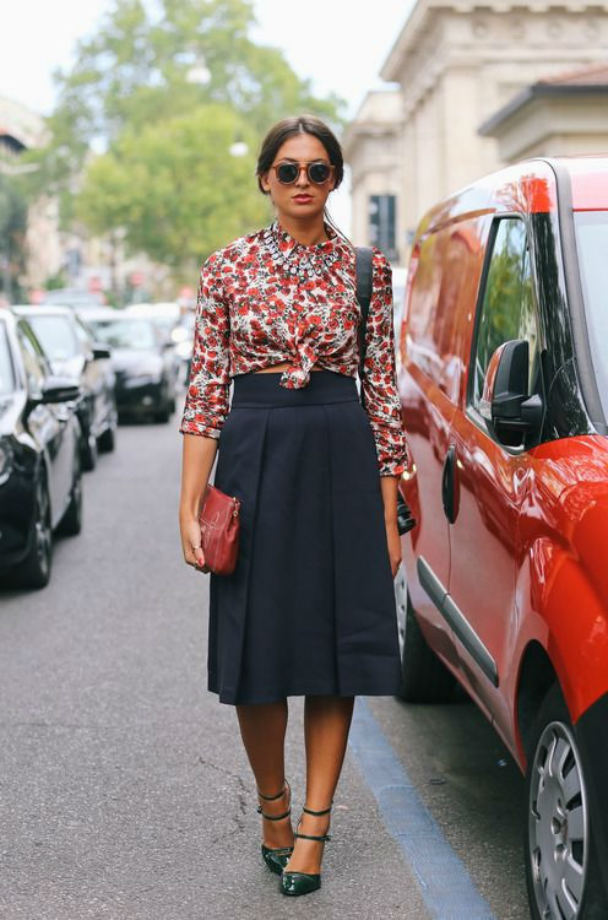 knuten kjol look