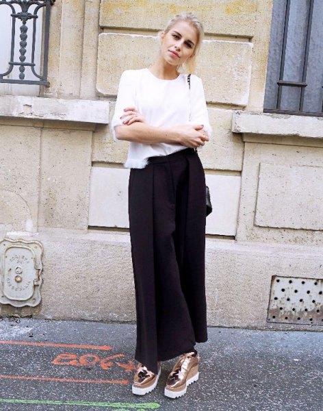 vit t-shirt svart maxitröja
