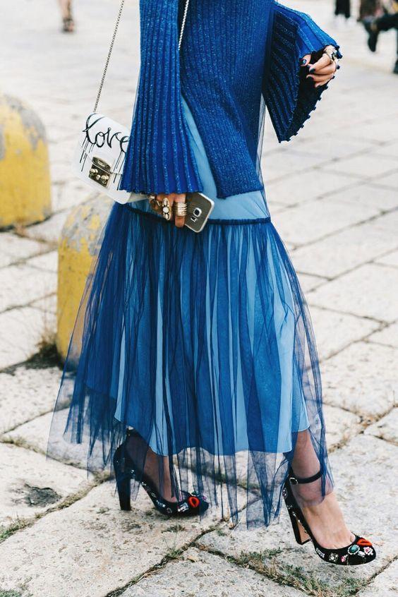 blå rhapsody tyll kjol