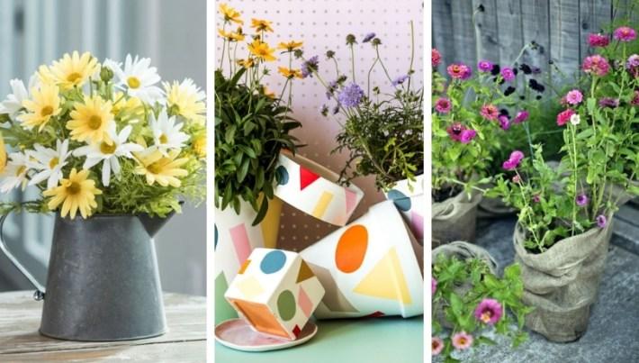30 bra idéer för hur du kan dekorera ditt hem med sommarblommor.
