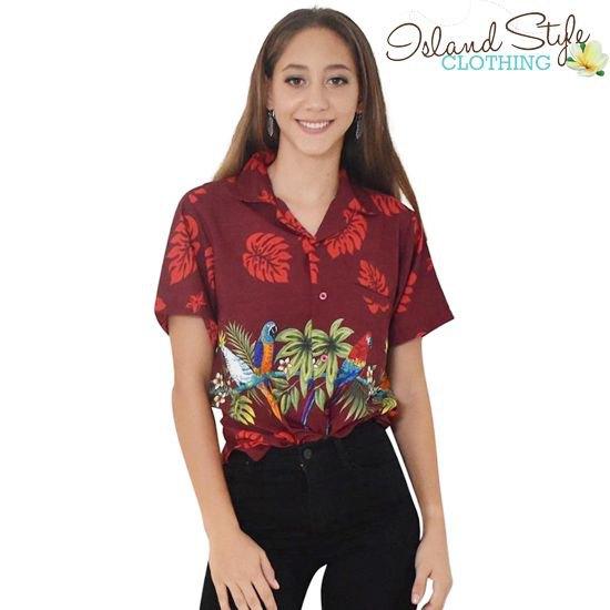 Mörkröd hawaiisk skjorta med svarta skinny jeans