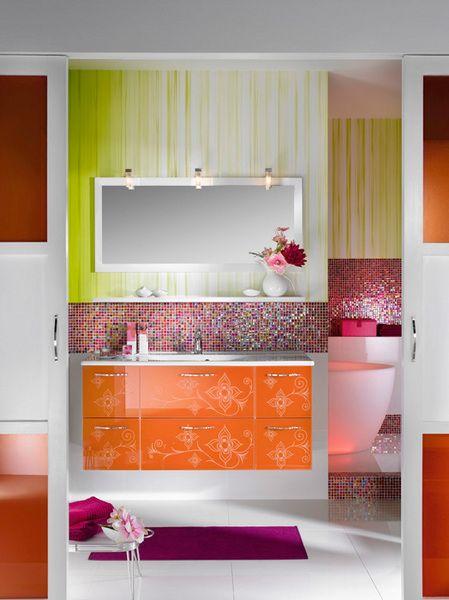 Glamour badrumsmöbler och design för tjejer från Delpha.