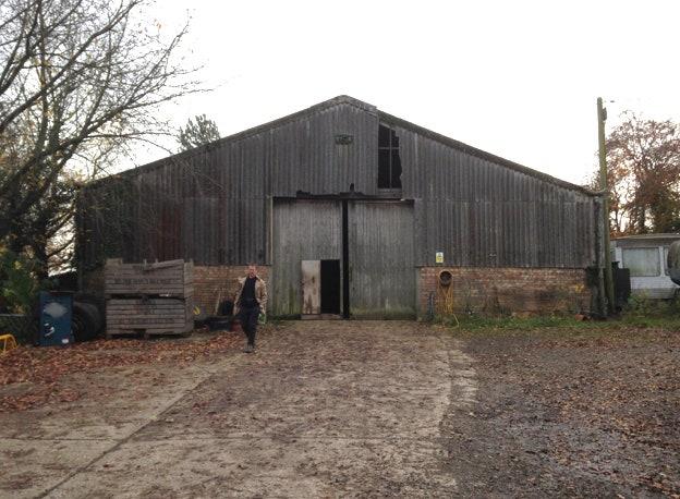 Denna traktortapp i Sydöstra England omvandlades till en.