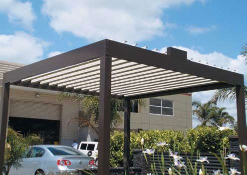 Cool idé för uteplats - Öppna tak av Louvretec    DigsDigs.