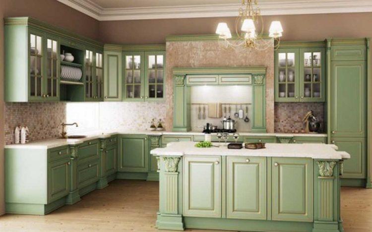 20 underbara gröna kök design idé