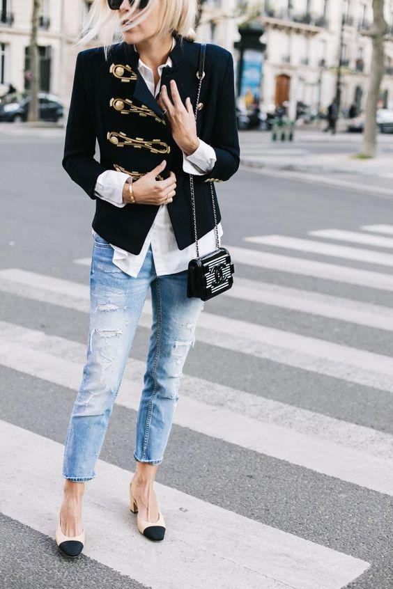 Militärjacka jeans