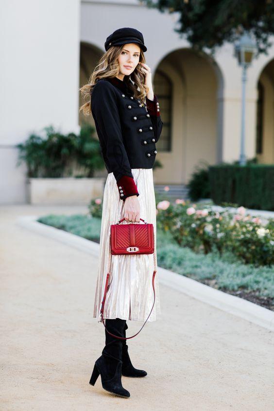 Militärjacka vit kjol