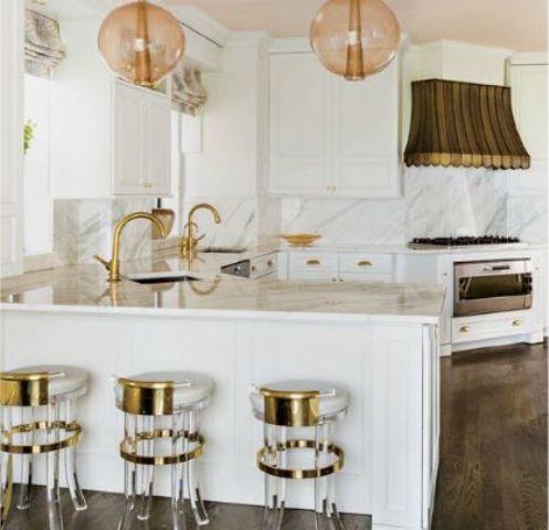 46 vackra Glam Kitchen Design Idéer att prova - DigsDi