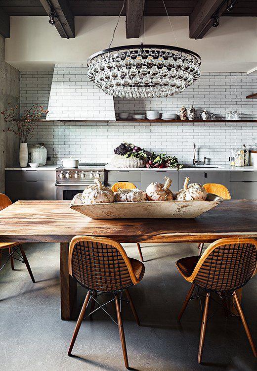 Room Crush: Industrial Glam Kitchen    Modern köksdesign.