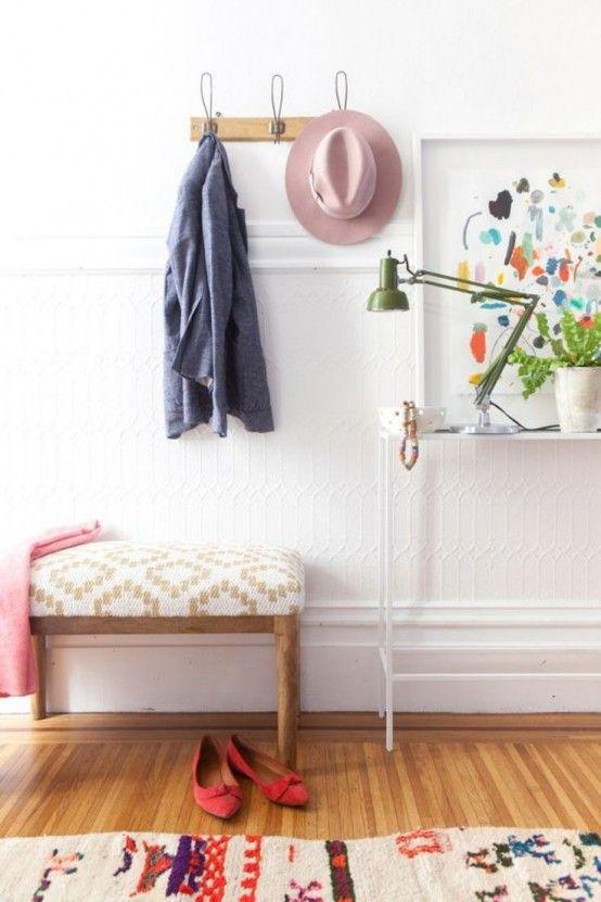 25 eleganta och söta kvinnliga entrédekorationer |  Haus deko.