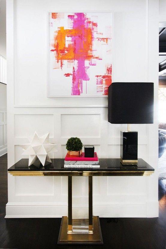 Eleganta och söta kvinnliga entrédekorationer |  Möbler design.