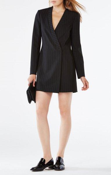 svart randig kostym jacka klänning