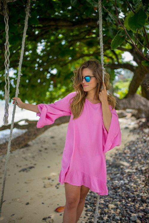 rosa sommarklänning rosa
