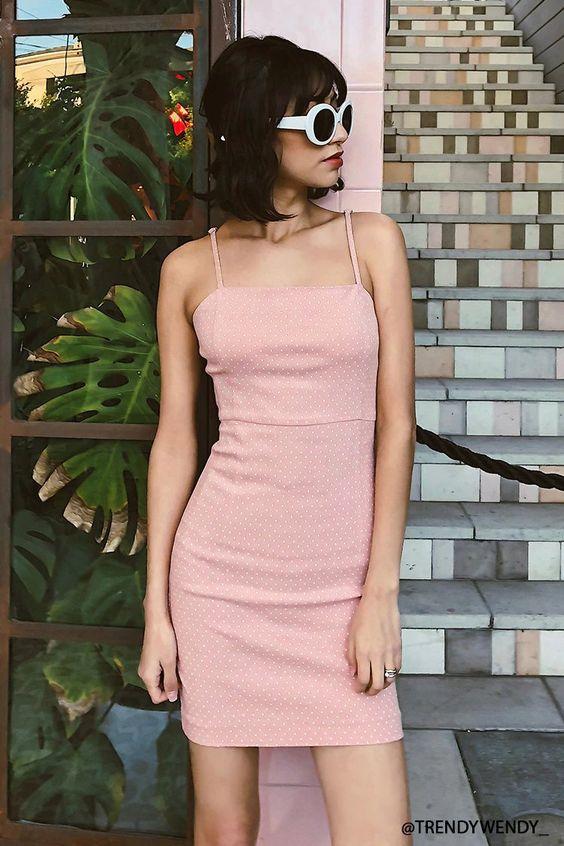 rosa sommarklänning retro