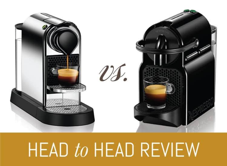 Nespresso Inissia vs. Nespresso CitiZ |  Vad är bäst för dig
