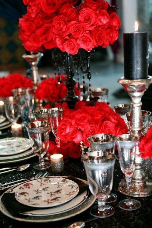 37 klassiska röda och svarta Halloween-idéer |  Bröllopsdekor elegant.