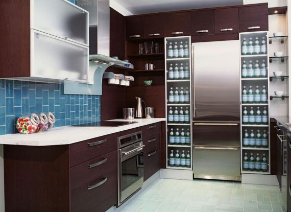 Blue & Brown Kitchen designat av Robin Siegerm