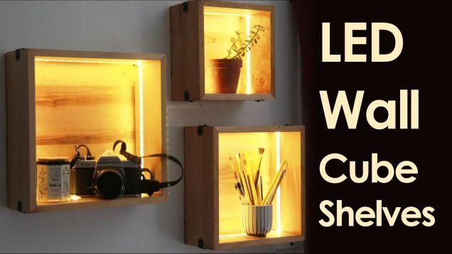 Fancy Up några kubhyllor med LED-remsor |  Väggkuber, kubvägg.