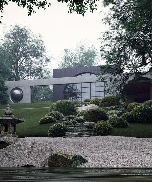 sergey makhno bygger en japansk trädgård i ukrainsk förort