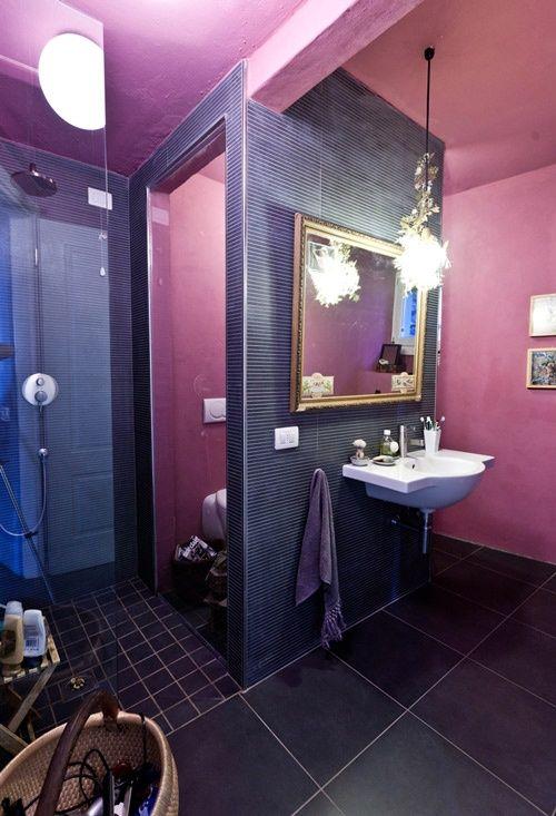 33 coola lila badrumsdesignidéer |  DigsDigs |  Lila badrum.