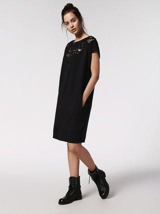 hybrid svart skiftklänning