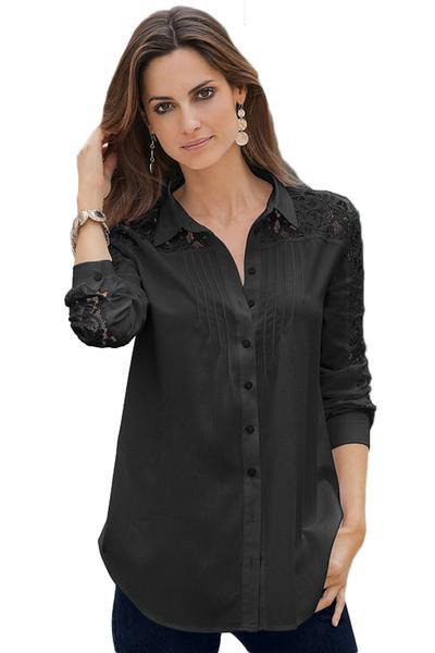 svart siden plisserad skjorta med smala jeans