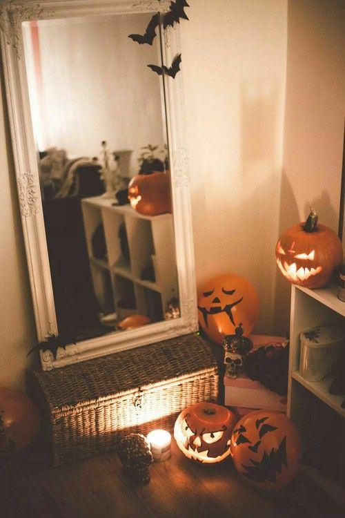 Detta är en rolig dekoridé för ett tonårssovrum vid Halloween-tid.