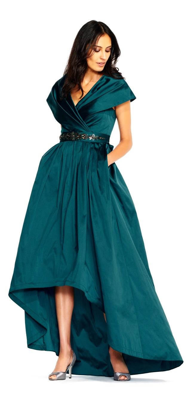 grön klänning för brudmor