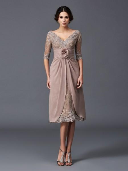 korta känsliga rosa klänningar till brudmor